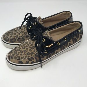 Sperry Top-Sider Biscayne Boat Shoes Leopard